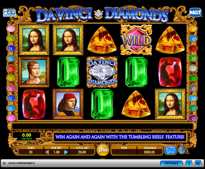 Slots Da Vinci Diamonds