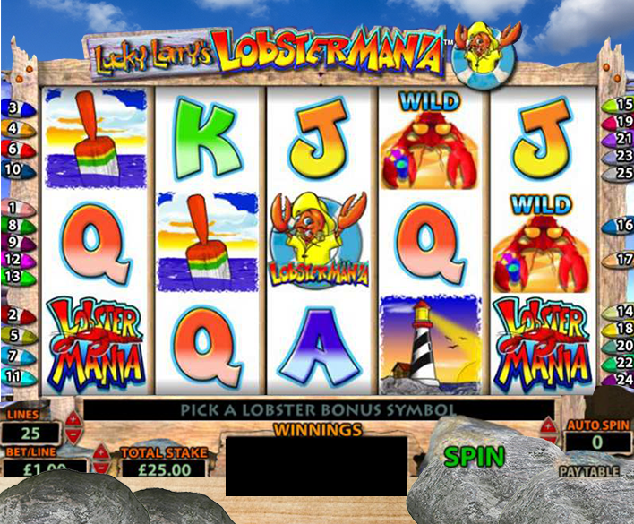 Lucky Larry S Lobstermania Slot Machine With