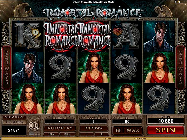Video slot immortal romance