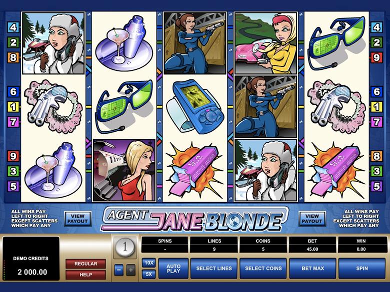 Slots Agent Jane Blonde
